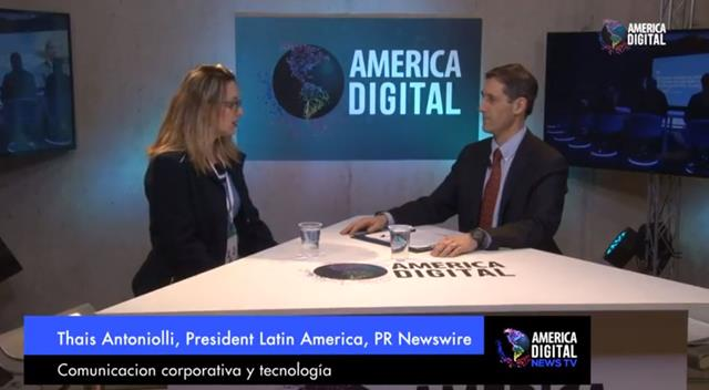 America Digital News TV entrevista Thais Antoniolli, presidente da PR Newswire