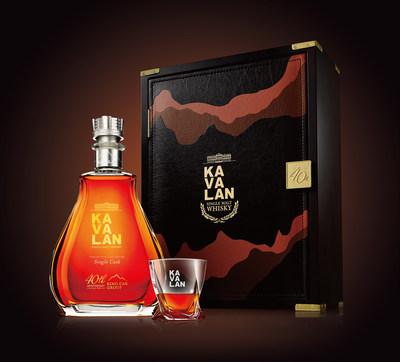 A mais recente garrafa da Kavalan apresenta uma coroa cravejada digna de um rei